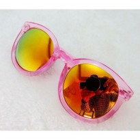 Kacamata Fashion Sunglasses Retro Transparant jgl035 | Jelly Color / Anti UV
