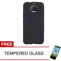 Case for Motorola Moto G5s Plus / XT1805 - Slim Soft Case - Hitam Solid + Gratis Tempered Glass