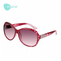 Inone Gradient Lens Round Sunglasses Kacamata Fashion Pria Wanita Frame Model Tren Simple