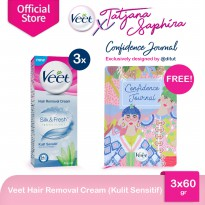 (POP UP AIA) Veet Sensitive 60gr (3 pcs) + FREE Exclusive Tatjana Agenda