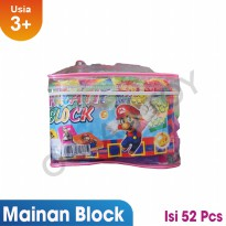 Creative Block Full Color Modern Isi 52 Pcs Mainan Edukasi Anak - OCT9206