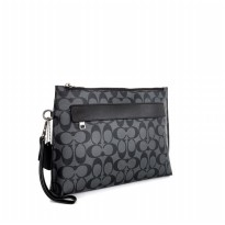 Coach Carryall Pouch In Signature - Grey