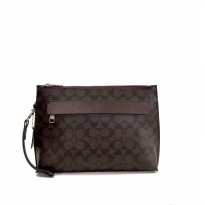 Coach Carryall Pouch In Signature - Brown