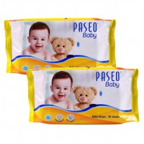 PASEO Baby Wipes 50 Sheets x 2 pcs