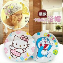 shower cap karakter penutup kepala anti air motif kartun