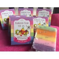 FRUIT VITAMIN SOAP ~ 10 in 1 ~ BPOM ~ 100% ORIGINAL ~ SABUN PEMUTIH