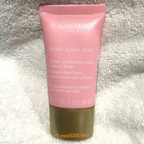 CLARINS MULTI ACTIVE DAY CREAM TARGETS FINE LINES ANTIOXIDANT DAY CREAM 15ML FOR NORMAL TO DRY SKIN