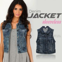 Express Ladies Denim Vest for Women / Jacket Wanita Rompi