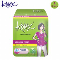 [KOTEX] FRESH LINERS LONGER AND WIDER Daun Sirih Isi 8 pcs