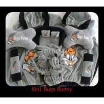 Car Set Bantal Mobil Bugs Bunny 8in1