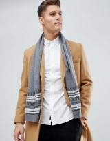United Colors of Benetton Cashmere Mix Scarf With Jacquard Detailing
