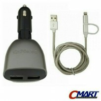 Capdase Car Charger Mobil 2 port 3.4A USB Cigarette Lighter - TK00-DM