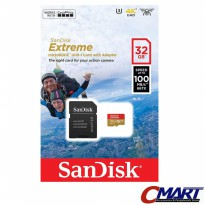 SanDisk Extreme micro SD 32GB 100MB/S micro SDHC - SDSQXAF-032GGN6A