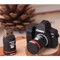 SLR Camera Canon Shape USB 2.0 Flashdisk 16GB - Black