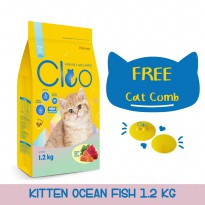 CPPETINDO Cleo Ocean Fish Kitten Food - 1,2kg dan Cat Comb Cleo