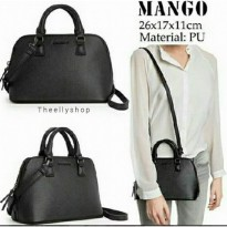 [MANGO] MINI SAFFIANO | BLACK
