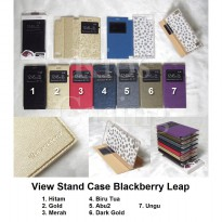 Blackberry Leap - Flip Cover View Stand Case Casing Sarung