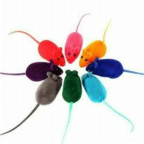 Tikus mainan /cat toys/dog toys/pet toys (Random warna)