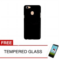 Case for Oppo F5 / F5 Youth - Slim Soft Case - Hitam Solid + Gratis Tempered Glass