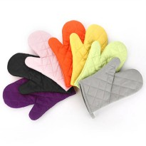 [globalbuy] Cotton Oven Mitt Heat Proof Resistant Protection Kitchen Cooking Pot Holder Gl/2964492