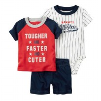 Original Carter's 3 in 1 Casual Set - Tougher Size 18m