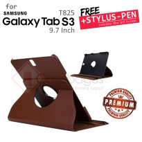Samsung Galaxy Tab S3 9.7 T820 T825 - Rotating Leather Flip Case Cover