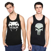 Singlet Baju Kaos active  Underarmur under armur punisher /banyak motif