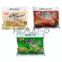 BONUS Bubblewrap Naraya Oat Choco Ada 3 Varian ORIGINAL, CHOCOLATE, GREEN TEA 400gr (40 pcs)