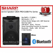 SHARP Speaker Active CBOX-PRO12UBB PMPO 17.000W Pro Series