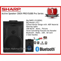 SHARP Speaker Active CBOX-PRO15UBB PMPO 19.000W Pro Series
