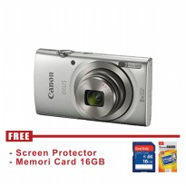 Canon IXUS 185 HS Silver - FREE Accessories