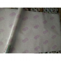 Wallpaper Sticker 10m Motif Polkadot Ungu