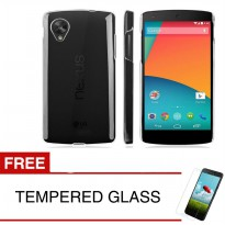 Crystal Case for LG NEXUS 5 - Clear Hardcase +  Gratis Tempered Glass