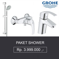 Paket Shower Grohe 2 ( Shower + Bath Mixer + Kran Air Wastafel ) Berkualitas