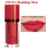 BOURJOIS ROUGE EDITION VELVET 18 IT'S REDDING MEN!