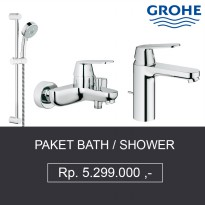 Paket Kran Grohe 3 ( Bath Mixer + Shower SET + Kran Air Wastafel )