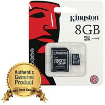 Kingston microSDHC High Capacity micro Secure Digital Card Class 4 (4MB/s) 8GB - SDC4/8GB