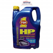 Top One HP Plus 10W-40 Synthetic - Oli Mobil Mesin Bensin 4 Liter Original Made in USA