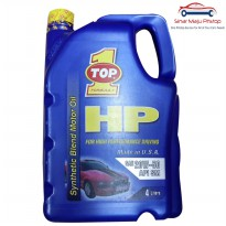 Top One HP Oil SAE 20W-50 - Oli Mobil Mesin Bensin 4 Liter Original