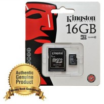 Kingston microSDHC High Capacity micro Secure Digital Card Class 4 (4MB/s) 16GB - SDC4/16GB