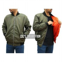 Jaket Bomber Waterproof Taslan Army in Orange