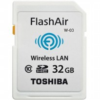 Toshiba Flash Air Wireless SD Card Class 10 32GB - THN-NW03W0320C6 - White