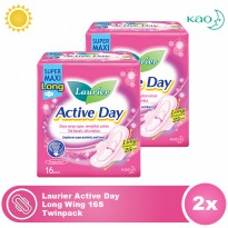 Laurier Active Day Long Wing 16S Twinpack
