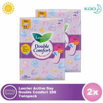 Laurier Active Day Double Comfort 28S Twinpack