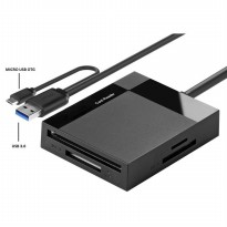 Card Reader Multifungsi USB 3.0 Dengan Micro USB OTG - Black