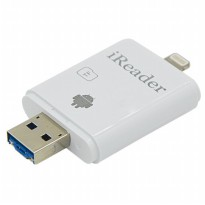 iReader Lightning Card Reader Micro SD Slot - White