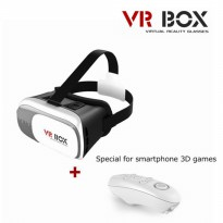Unik VR / Virtual Reality Box 2.0 kacamata 3D + Remote Bluet Murah