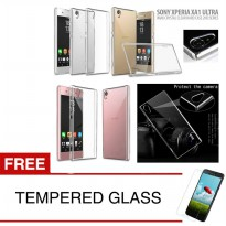 Crystal Case for Sony Xperia XA1 Ultra / G3226 - Clear Hardcase + Gratis Tempered Glass