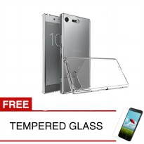 Crystal Case for Sony Xperia XZ Premium / G8142 - Clear Hardcase + Gratis Tempered Glass