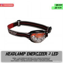 Headlamp Energizer Headlight 4 LED 2 Mode Cahaya Terang Free Baterai